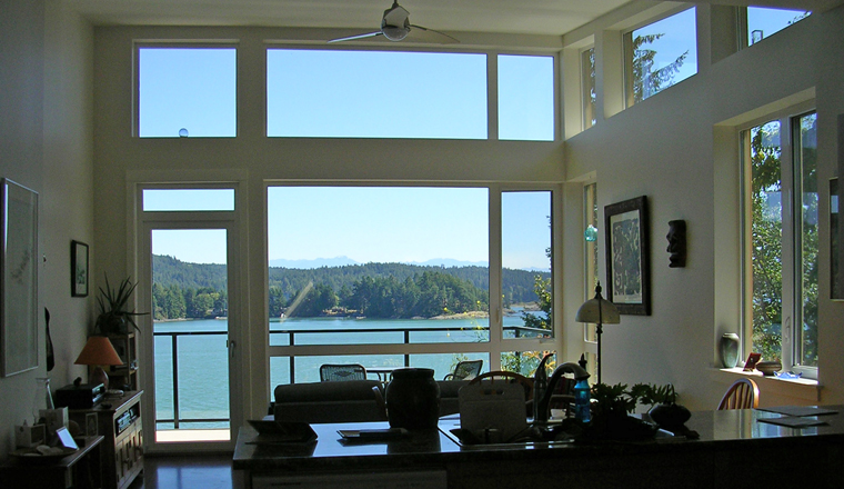 View of the inlet from a Harbourside unit.