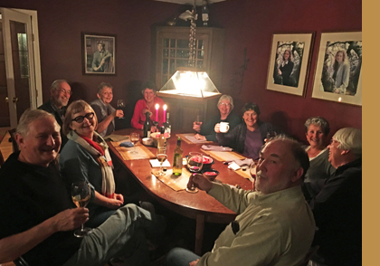 Photo of Westwind members toasting.